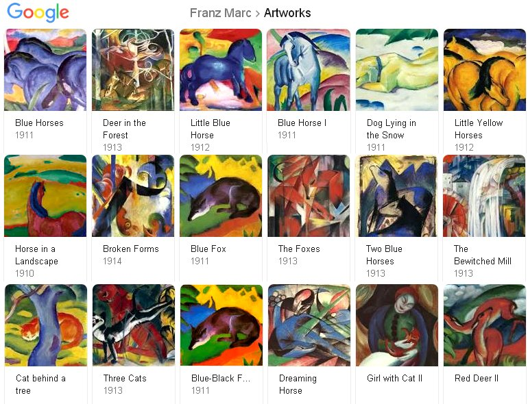 Franz Marc Google results