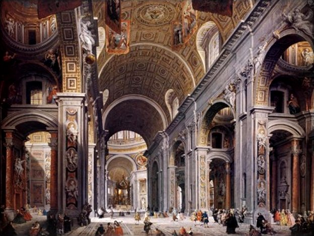 Interior of St. Peter's, Rome, by Giovanni Paolo Pannini