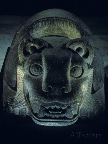 Jaguar-Shaped Receptacle for Hearts of Sacrifice Victims, Templo Mayor, Aztec, Mexico