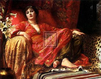 Leila 1892 by Sir Frank Dicksee, Art Print