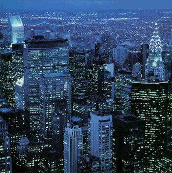 Cityscapes, New York City, Midtown at Night