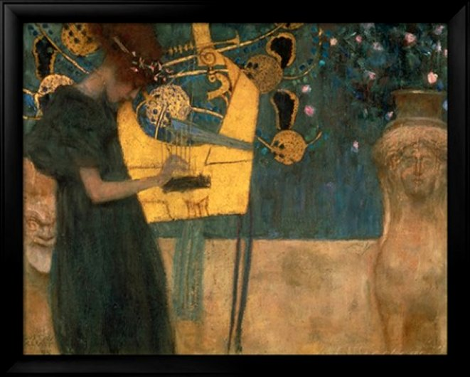 Music, 1895, by Gustav Klimt - Art Print