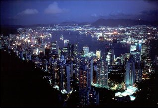 Night Shot of Hong Kong
