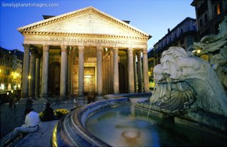 Pantheon at Dusk, Rome, Venice, Italy, Art Print
