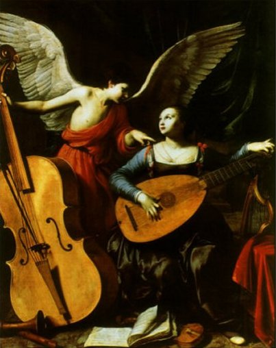 Saint Cecilia and the Angel, 1600 by Carlo Saraceni