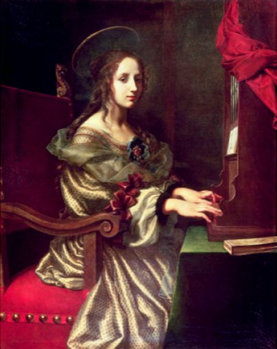 St. Cecilia (Patron of Musicians) - by Carlo Dolci