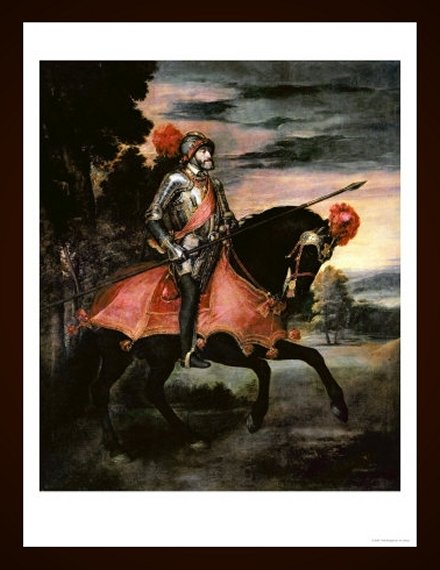 The Emperor Charles V (1500-58) on Horseback in Muhlberg, 1548 by Titian