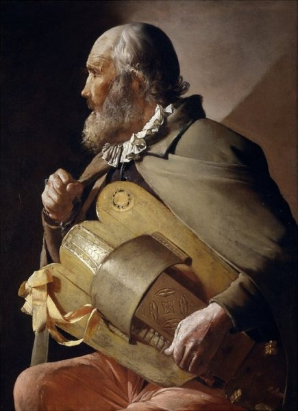 Blind Hurdy-Gurdy Player, 1630-1632 by Georges de La Tour
