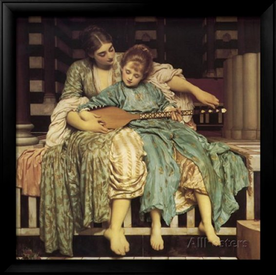 The Music Lesson by Frederick Leighton