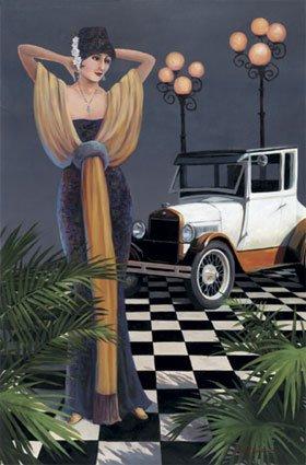 Vintage Car Poster, vintage automobile art print